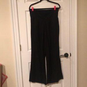 Black flowy yoga pants